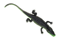 Toy alligator on a white background Royalty Free Stock Photography