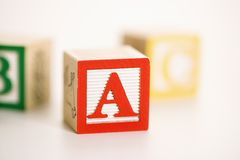 Toy alphabet blocks. Royalty Free Stock Photography