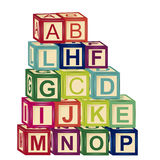 Toy alphabet Stock Image