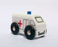 Toy Ambulance. On white background royalty free stock images