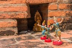 Toy Angel Doll Buddha Status at Wat Yai Chaimongkol Royalty Free Stock Photos