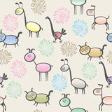 Toy animal seamless background Royalty Free Stock Photo