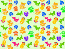 Toy animal seamless pattern Stock Image