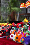 Toy animals. A piles of toy animals with chinese traditional character Stock Photography