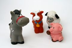 Toy animals Royalty Free Stock Photos