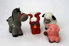 Toy animals Stock Image