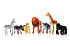 Toy animals. On white background Royalty Free Stock Image