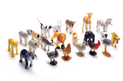 Toy animals. Set of toy animals on white background Royalty Free Stock Photography