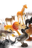 Toy animals. Set of toy animals on white background Royalty Free Stock Images
