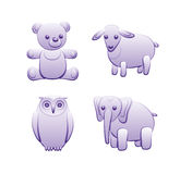 Toy animals. The first set. Stock Image
