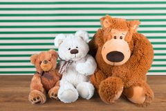Toy Animals. Stuffed Animal Homemade Knitting Offspring Crochet Play Royalty Free Stock Photography