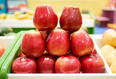 Toy Apples for Preschool and Elementary School Kids to Practice royalty free stock photos