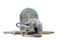 Toy armour of the knight royalty free stock photos