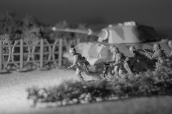 Toy Army Attacking Fotografia Stock