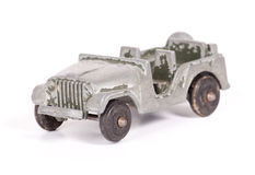 Toy Army Jeep Arkivbilder