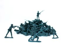 Toy army men Stock Photos