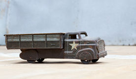 Toy army truck Royalty Free Stock Photo