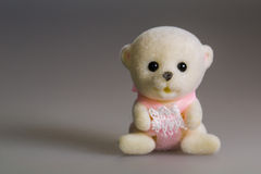 Toy baby bear. Made from plush stock images