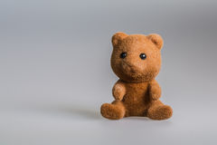 Toy baby bear. Made from plush stock photography