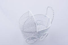 Toy  baby carriage made of metal Stock Images