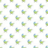 Toy baby carriage pattern Stock Photography
