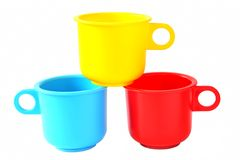 Toy Baby Cups(0) Royalty Free Stock Photo
