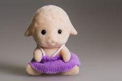 Toy baby deer. Made from plush, with skirt royalty free stock images