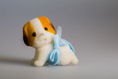 Toy baby dog. Toy doggie, made from plush stock images