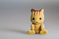 Toy baby squirrel. Made from plush stock image