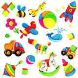 Toy background for children. Royalty Free Stock Image