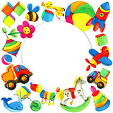 Toy background for children. Royalty Free Stock Photo