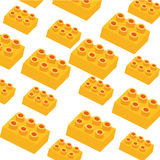 Toy background. Special yellow toy on white background Royalty Free Stock Photography