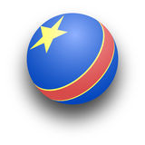 Toy Ball. Illustration of a blue child's ball with a red stripe and yellow star vector illustration