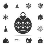 Toy ball for holiday fir-tree Icon. Detailed set of web icons. Premium quality graphic design. One of the collection icons for web. Sites, web design, mobile app Royalty Free Stock Photo