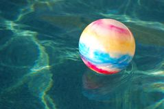 Toy Ball In Pool Stock Image