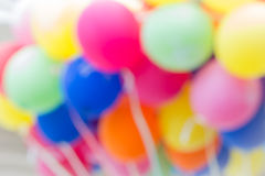 Toy balloons blurred background Royalty Free Stock Photos