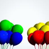 Toy balloons for the party. Colored toy balloons and vanished background Royalty Free Stock Photography
