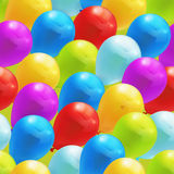 Toy balloons, seamless pattern Stock Images