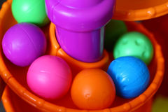 Toy Balls on Spiral Track Royalty Free Stock Photography