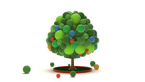Toy Balls Tree stock video footage