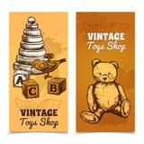 Toy Banner Set Stock Photos