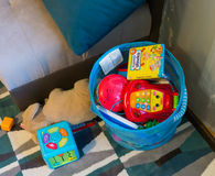 Toy basket Stock Images