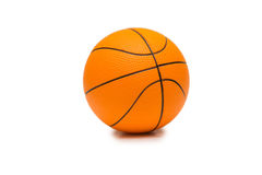 The toy basketball isolated on white background Royalty Free Stock Photos