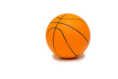 The toy basketball  on white background Royalty Free Stock Photography