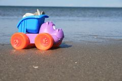 The toy on the beach Royalty Free Stock Image