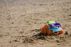 Toy on the beach Royalty Free Stock Image
