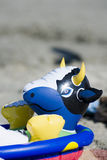 Toy on the beach Royalty Free Stock Photography