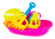 Toy. Beach baby toys on the background Royalty Free Stock Photography