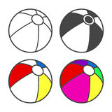 Toy beach ball  for coloring book  on Stock Photos