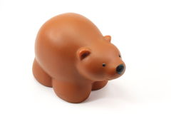 Toy Bear. Toy brown bear on a white background Stock Photography